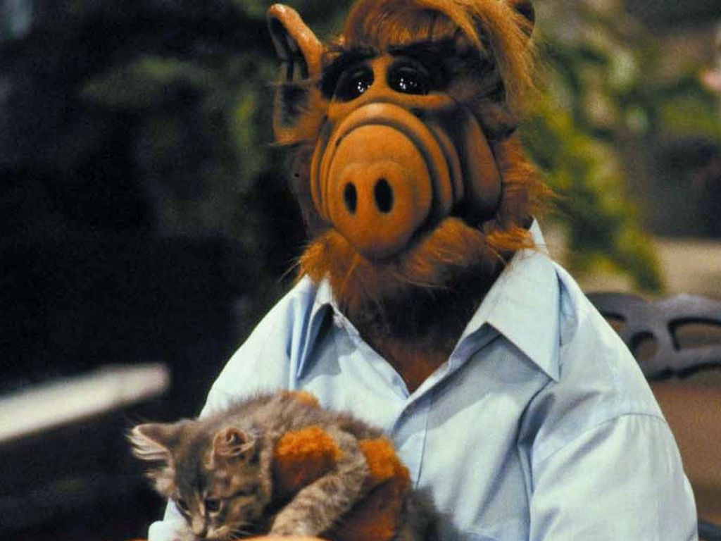 Alf mit Katze