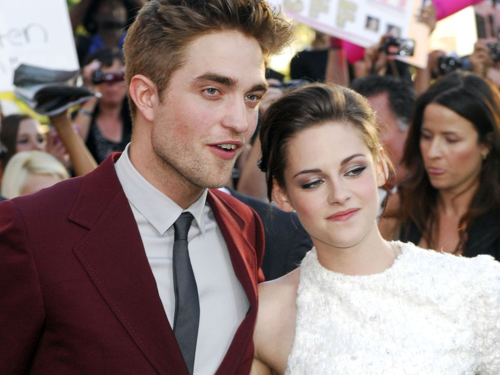 Kristen Stewart und Robert Pattinson mit komischem Blick