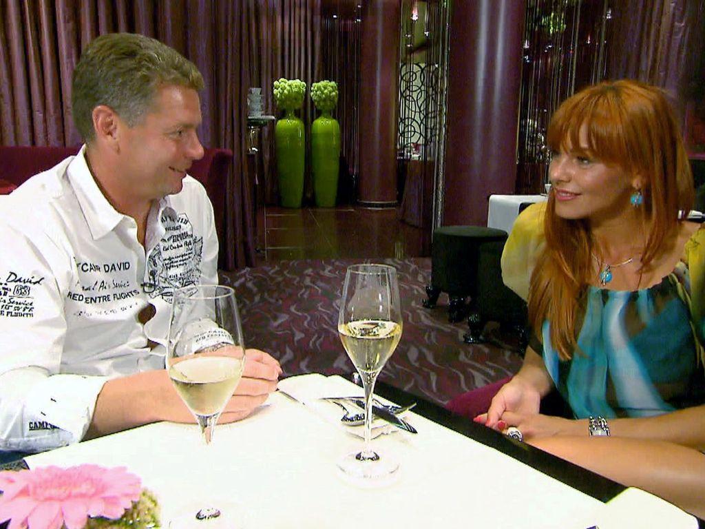 Manfred und Cristina beim Essen