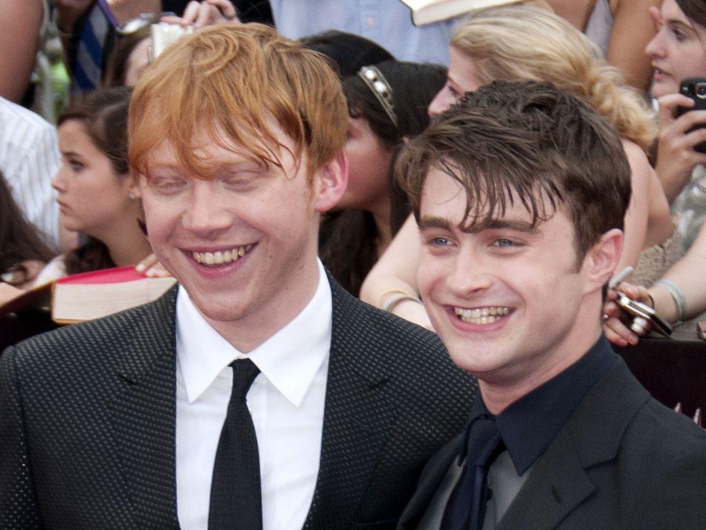 Rupert Grint und Daniel Radcliffe lachen