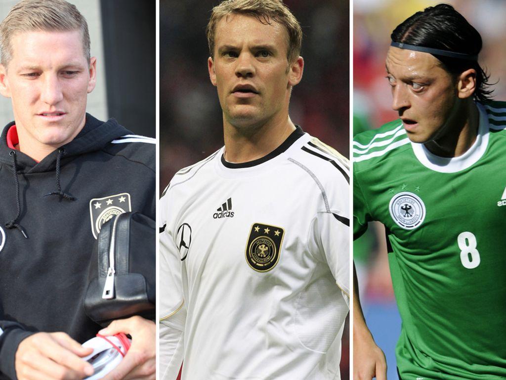 Schweinsteiger, Neuer, Müller, Özil