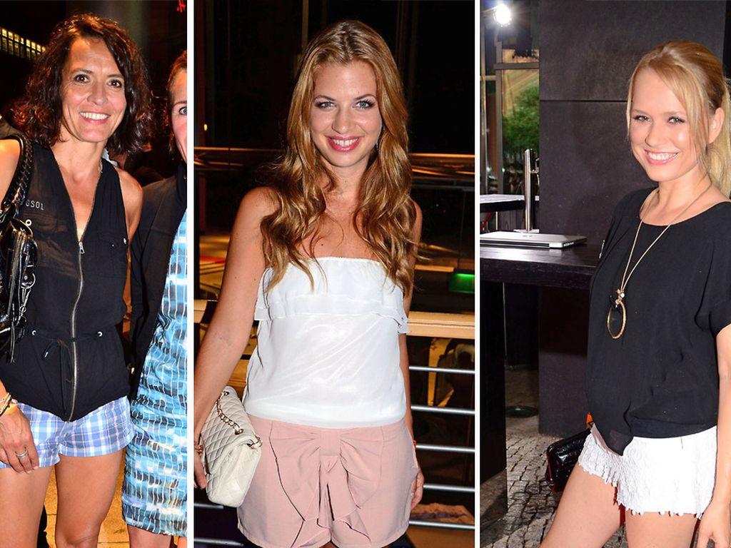 Ulrike, Susan und Nova Meierhenrich in Shorts