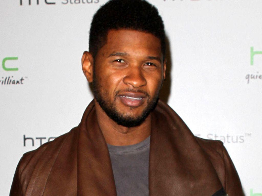 Usher braune Lederjacke