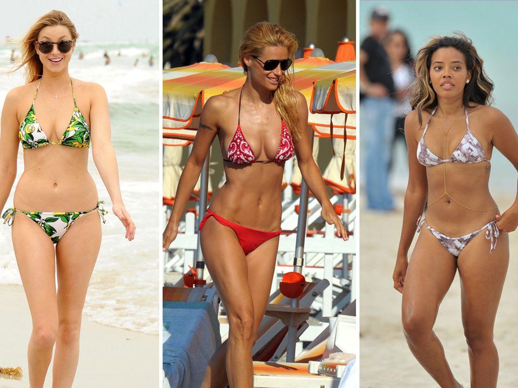 Whitney, Michelle und Angela im Bikini