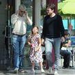 Jason Bateman war mit seiner Tochter und seinem Vater unterwegs