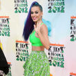 Katy Perry posierte im neongrünen Look bei den Kids Choice Awards