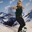Michaela Schaffrath auf einem Snowboard