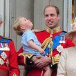 ... bis er schließlich wieder auf dem Arm von Papa Prinz William landete