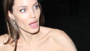 Angelina Jolie reißt den Mund auf
