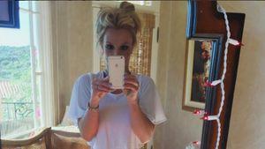 Britney Spears macht ein Selfie