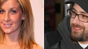 Charlotte Engelhardt und Sido lächeln