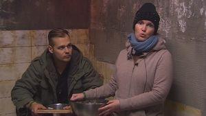 """Christian und Bianca bei der """"Reisaufgabe"""""""