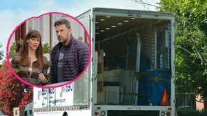 Collage: Ben & Jen + Umzugswagen