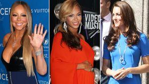Collage: Mariah Carey, Beyoncé Knowles und Herzogin Kate