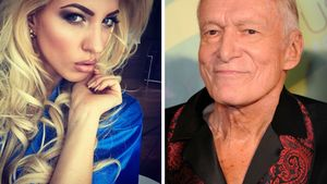 Collage Sarah Nowak und Hugh Hefner