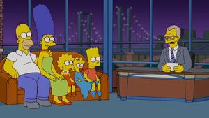 Die Simpson zu Gast bei David Letterman