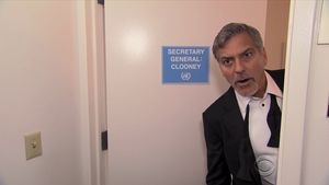 "George Clooney in der ""Late Show"""