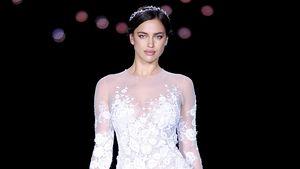 Irina Shayk auf dem Laufsteg im Brautkleid
