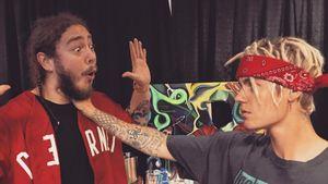 Justin Bieber und Post Malone nach der Würgeattacke