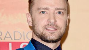 Justin Timberlake im blauen Anzug