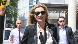 Kate Moss im Business-Look