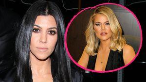 Kourtney und Khloe Kardashian in einer Collage