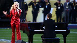 Lady Gaga beim Super Bowl 2016