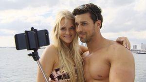 Leonard und Daniela machen ein Selfie