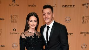 Mesut Özil und Mandy Capristo bei der Bambi-Verleihung