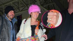 Miley Cyrus mit einem Ring in einer Collage