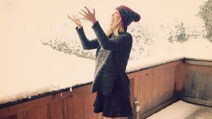 Monica Ivancan im Schnee
