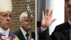 Papst Franziskus und Russell Crowe