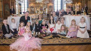 Prinzessin Madeleine, Leonore und Kids auf Schloss Stockholm
