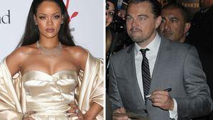 Rihanna und Leonardo DiCaprio schauen sich an
