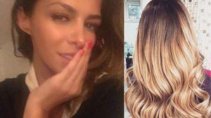 Sabia Boulahrouz mit blonden Haaren in einer Collage