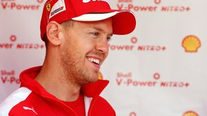 Sebastian Vettel freut sich