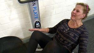Silvia Wollny beim Fitness-Training
