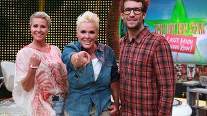 Sonja Zietlow, Brigitte Nielsen und Daniel Hartwich beim Sommer-Dschungelcamp