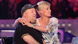 Sonja Zietlow umarmt Dirk Bach