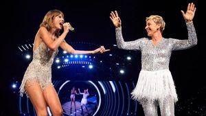Taylor Swift und Ellen DeGeneres auf der Bühne