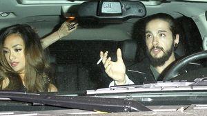 Tom Kaulitz raucht im Auto