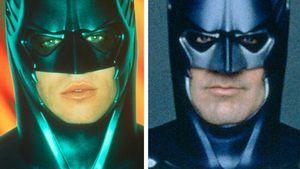 """Val Kilmer udn George Clooney als """"Batman"""" in einer Collage"""