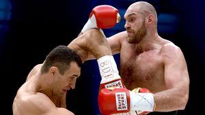 Wladimir Klitschko und Tyson Fury im Kampf