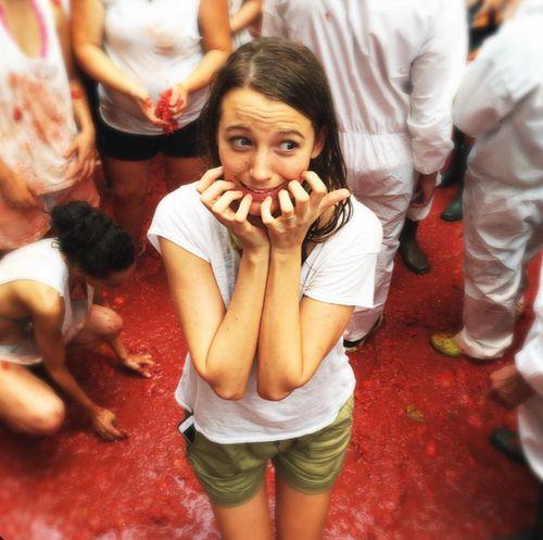 """Blake Lively war auf dem """"Tomatina""""-Festival in Spanien"""