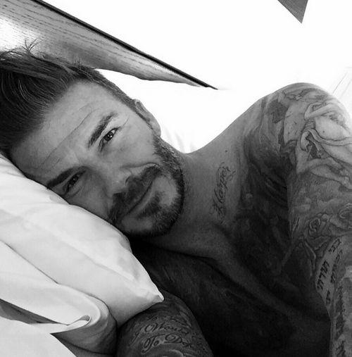 David Beckham postete dieses Selfie bei seiner Instagram-Premiere
