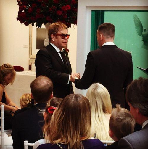 Elton John und David Furnish gaben sich jetzt das Ja-Wort