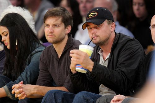 Tobey Maguire und Leonardo DiCaprio sind gute Freunde...