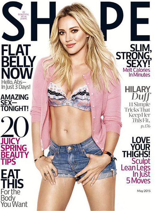 Hilary Duff ziert das aktuelle Shape-Cover