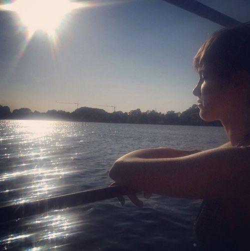 Isabell Horn genießt die letzten Sonnenstrahlen des Jahres