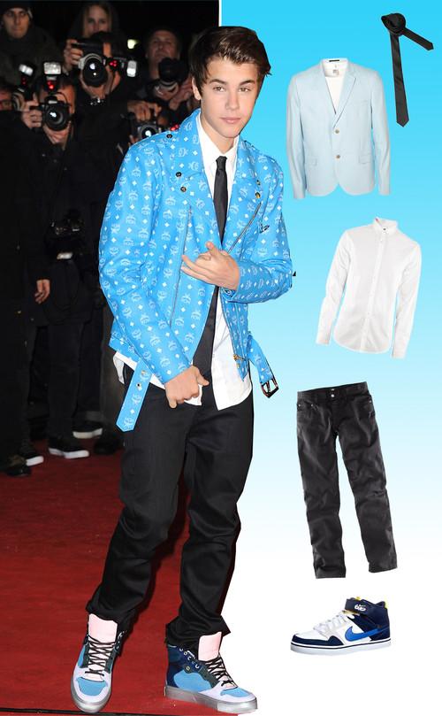 Justin Bieber trug auf dem roten Teppich ein lässig-elegantes Outfit
